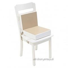 Mentin 2 Stück tragbares Sitzerhöhung für Kinder verstellbar und waschbar zerlegbar mit 2 Gurten für Esszimmerstühle Khaki