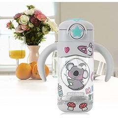 Gedourain Trinkflasche DIY Sticker Strohbecher umweltfreundlich für das BüroGrey