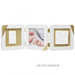 Baby Art 3601098600 Bilderrahmen dreiteilig und Foto für Baby Fußabdruck oder Handabdruck mehrfarbig