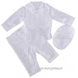 Soffi Kids Taufanzug Junge Baby Anzug weiß Festanzug Hochzeitsanzug Anzug Set aus Cord